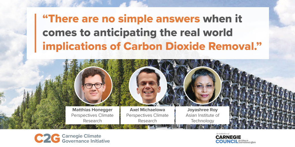 Blog post: Implications of Carbon Dioxide Removal for the Sustainable Development Goals