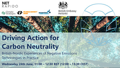 Webinar: British-Nordic Webinar – Driving Action for Carbon Neutrality